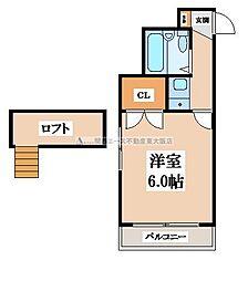 ラ・プティ[1階]の間取り