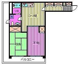埼玉県さいたま市南区白幡3丁目の賃貸マンションの間取り