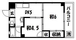 レジデンス松本[203号室]の間取り