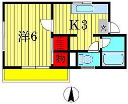 メゾンサカイA[1階]の間取り