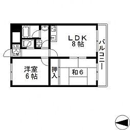 オルゴグラート長田[404号室号室]の間取り