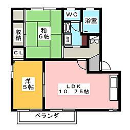 シャインミヤマエE[1階]の間取り