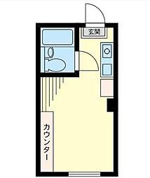 神奈川県横浜市港北区綱島西3丁目の賃貸マンションの間取り