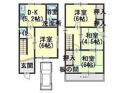 [一戸建] 大阪府岸和田市松風町 の賃貸【/】の間取り