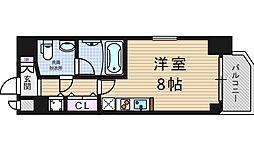アーデン京町堀ウエスト[4階]の間取り