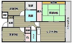 プレスト・コート弐番館[8階]の間取り