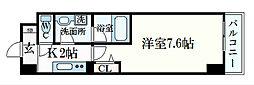 JR東海道・山陽本線 摂津本山駅 徒歩8分の賃貸マンション 5階1Kの間取り