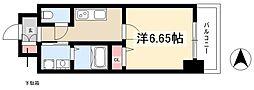 第18金山フクマルビル 6階1Kの間取り