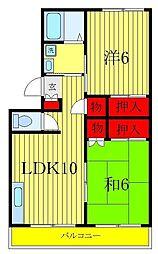 小松コーポII[1階]の間取り