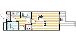 笠神マンション[601号室]の間取り