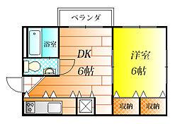 長寿マンション[1階]の間取り