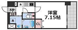 JPレジデンス大阪城東III 3階1Kの間取り