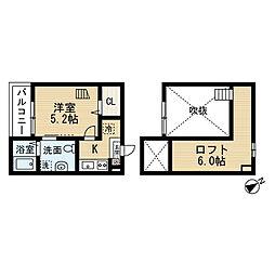 プレリュード左京山[105号室]の間取り