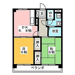 ステップ井上[4階]の間取り