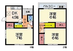 [一戸建] 大阪府八尾市八尾木北3丁目 の賃貸【/】の間取り