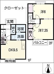 [タウンハウス] 愛知県刈谷市大正町5丁目 の賃貸【/】の間取り