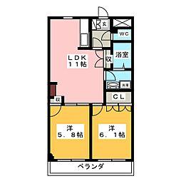 フェアリー芳明[2階]の間取り