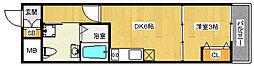 JR東西線 加島駅 徒歩3分の賃貸アパート 1階1DKの間取り