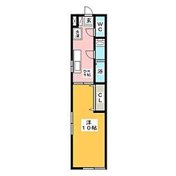 プルミエール地中海[1階]の間取り