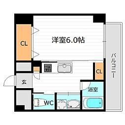 Osaka Metro長堀鶴見緑地線 蒲生四丁目駅 徒歩6分の賃貸マンション 11階1Kの間取り