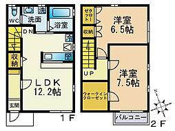 [テラスハウス] 神奈川県厚木市戸室5丁目 の賃貸【/】の間取り