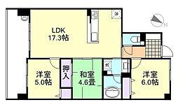 サーパス倉敷運動公園[9階]の間取り