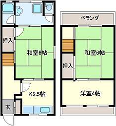 [タウンハウス] 大阪府堺市北区金岡町 の賃貸【/】の間取り