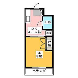 マンションジュネス VI[1階]の間取り