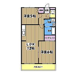 東京都青梅市新町4丁目の賃貸マンションの間取り