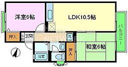 セジュール桂川[203号室号室]の間取り