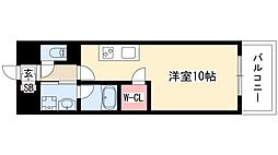 GRAND ESPOIR IZUMI 8階ワンルームの間取り