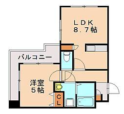 ラフォーレ六本松[11階]の間取り