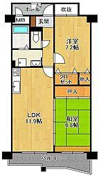 KDXレジデンス夙川ヒルズ 4番館[2階]の間取り