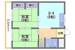 ジョイ長岡京103号[1階]の間取り