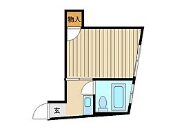 東京都豊島区南長崎4丁目の賃貸アパートの間取り