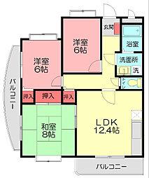 シェトワ湘南I[3階]の間取り