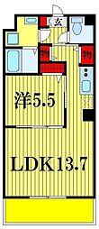 ハイム ミモザ 7階1LDKの間取り