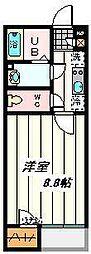 埼玉県川口市末広の賃貸アパートの間取り