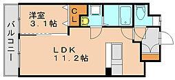 グローヴガーデンE[1階]の間取り
