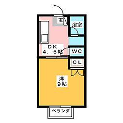 グレース葵東[2階]の間取り