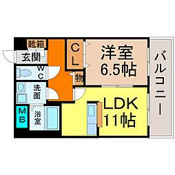 愛知県名古屋市西区庄内通3丁目の賃貸マンションの間取り
