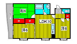 第五メゾン小泉芝新町[4階]の間取り