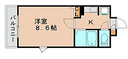 ライオンズステーションプラザ箱崎[13階]の間取り