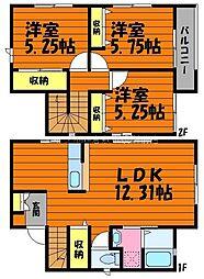 [一戸建] 岡山県倉敷市西中新田丁目なし の賃貸【/】の間取り