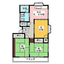 フェアリーカーサ[2階]の間取り