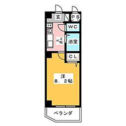 St . ラール[2階]の間取り