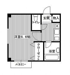 パープルクラウド3[3階]の間取り