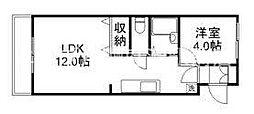 岡山県倉敷市下庄丁目なしの賃貸マンションの間取り