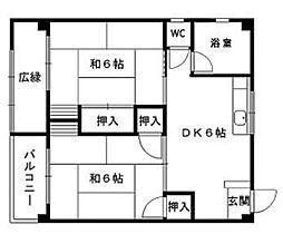たきみ荘[301号室]の間取り