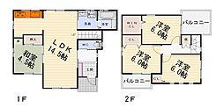 [一戸建] 大阪府堺市西区浜寺南町2丁 の賃貸【/】の間取り